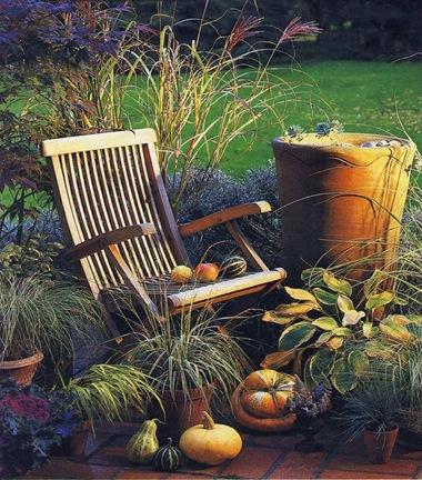 Осенняя терраса в саду